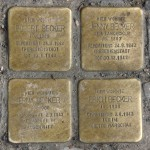 Stolpersteine Berlin 199: In memory of Robert Becker, Jenny Becker, Erna Becker and Erich Becker (Warschauer Strasse 61)