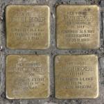 Stolpersteine Berlin 199: In memory of Robert Becker, Jenny Becker, Erna Becker and Erich Becker (Warschauer Strasse 61)