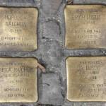 Stolpersteine Berlin 203a: In memory of Morduch Raichlin, Erich Lustig, Frida Raichlin and Ida Lustig (Reichenberger Strasse 181)