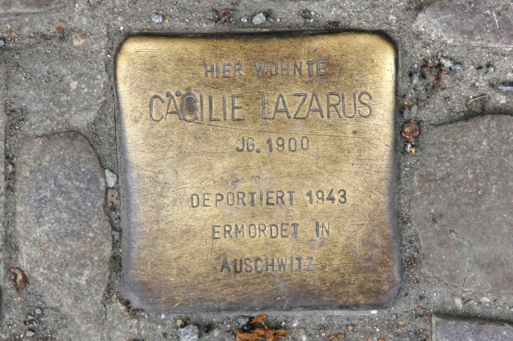 Stolpersteine Berlin 203c: In memory of Cäcilie Lazarus (Reichenberger Strasse 181)