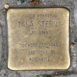 Stolpersteine Berlin 203d: In memory of Tana Stern (Reichenberger Strasse 181)