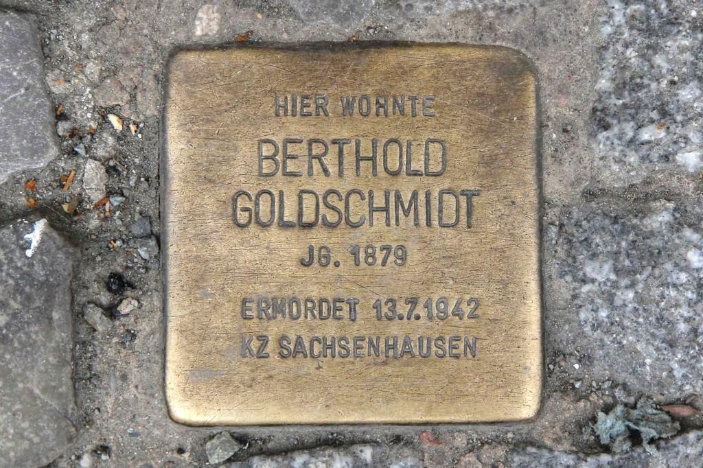 Stolpersteine Berlin 203e: In memory of Berthold Goldschmidt (Reichenberger Strasse 181)
