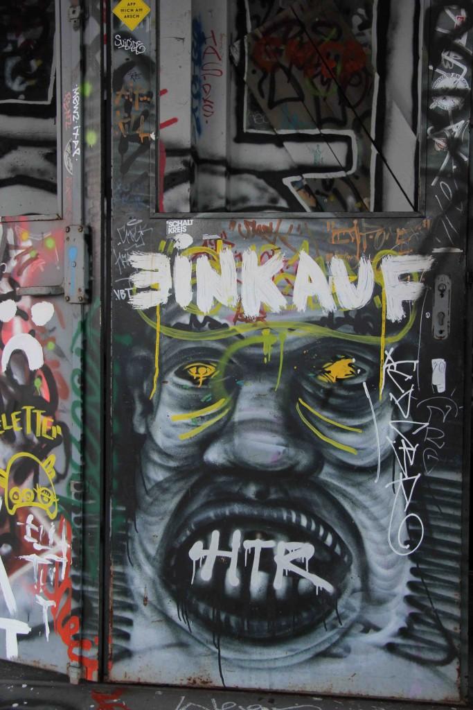 Einkauf - Street Art by Unknown Artist at the former NSA Listening Station at Teufelsberg Berlin