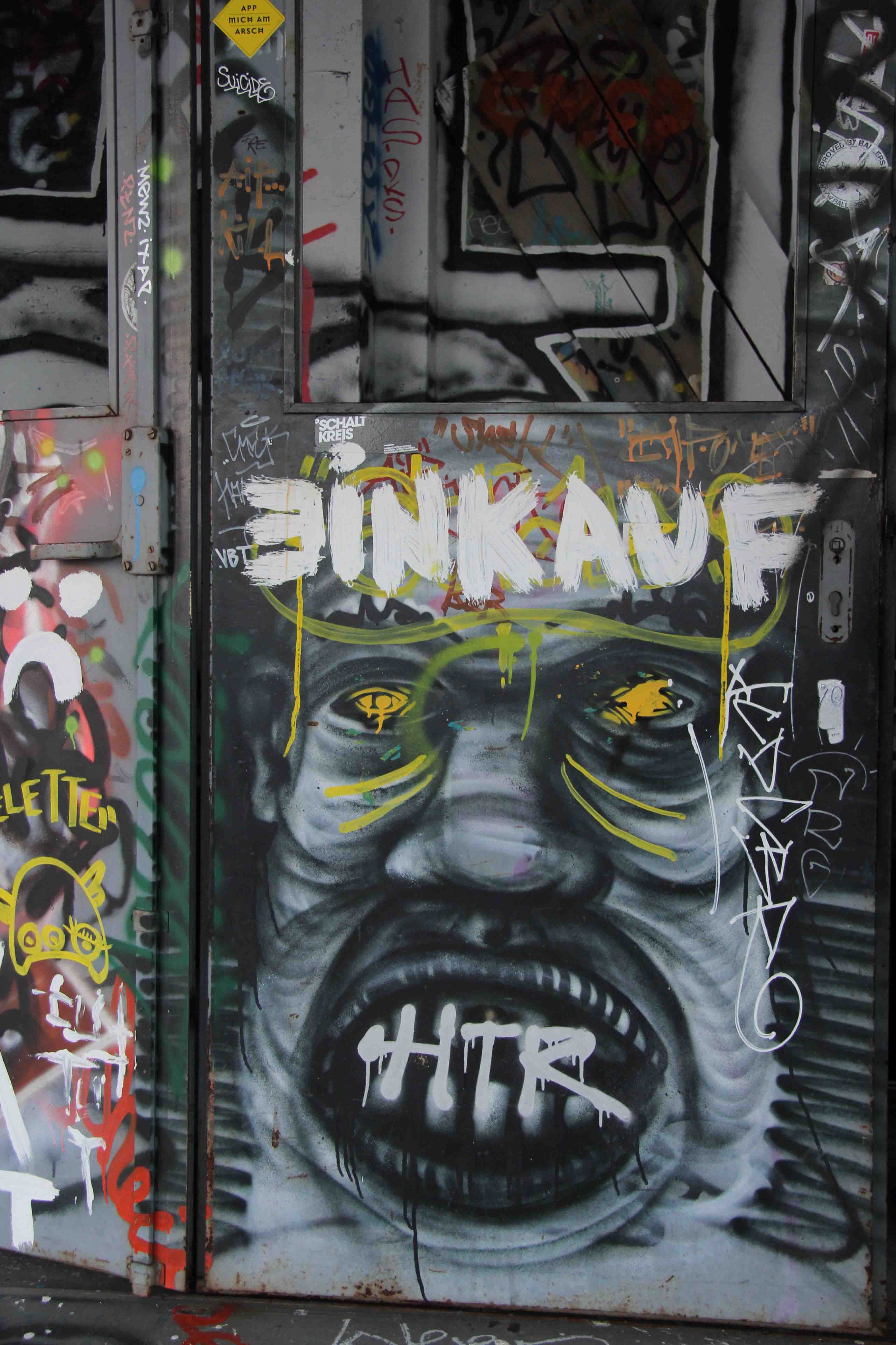 Einkauf - Street Art by Unknown Artist at the former NSA Listening Station at Teufelsberg Berlin