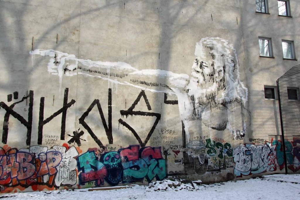 The Blind Prophet - Street Art by ALANIZ in Berlin