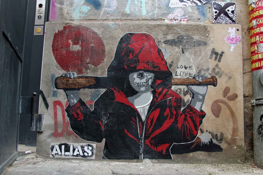 Batter Up - Street Art by ALIAS in Berlin