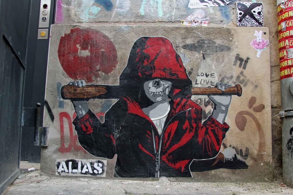 Batter Up - Street Art by ALIAS in Berlin