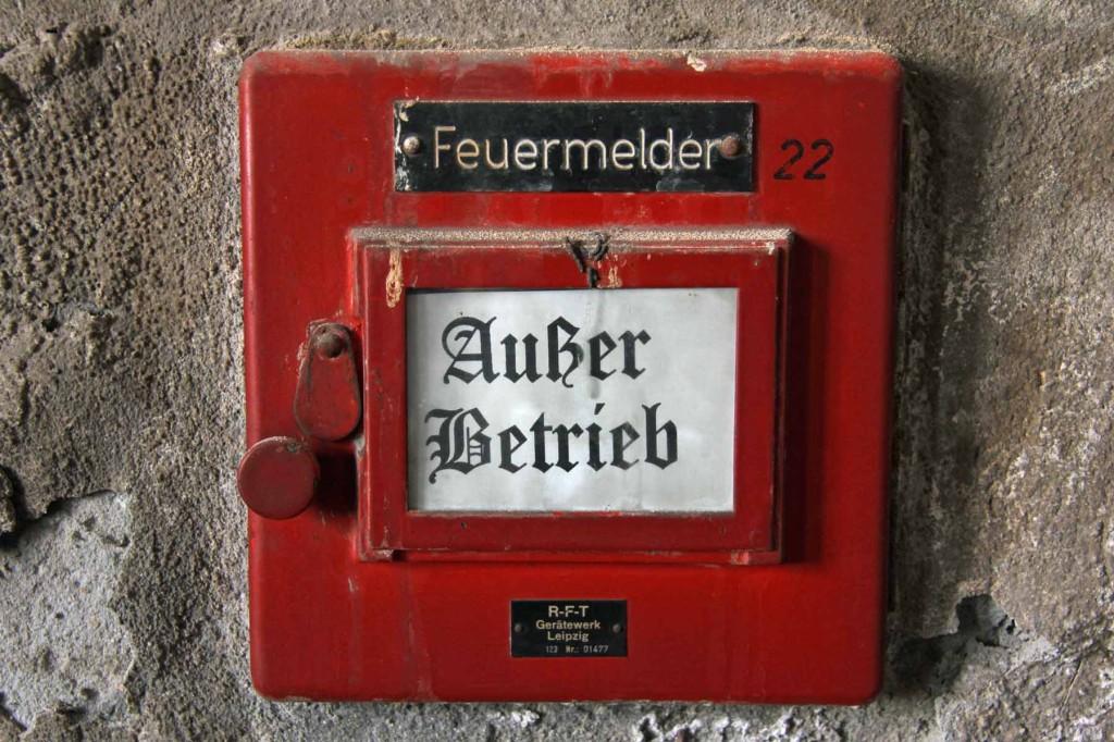 Außer Betrieb - Fire Alarm at the Opernwerstätten in Berlin