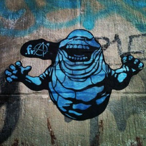Blue Slimer - Street Art by .FRA in Berlin