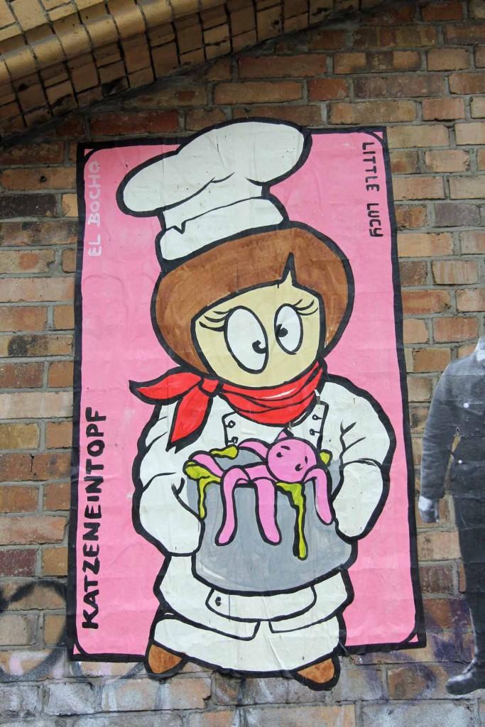 Little Lucy - Katzeneintopf - Street Art by El Bocho in Berlin