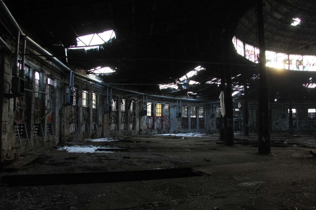 Inside the Roundhouse at Bahnbetriebswerk Pankow-Heinersdorf in Berlin