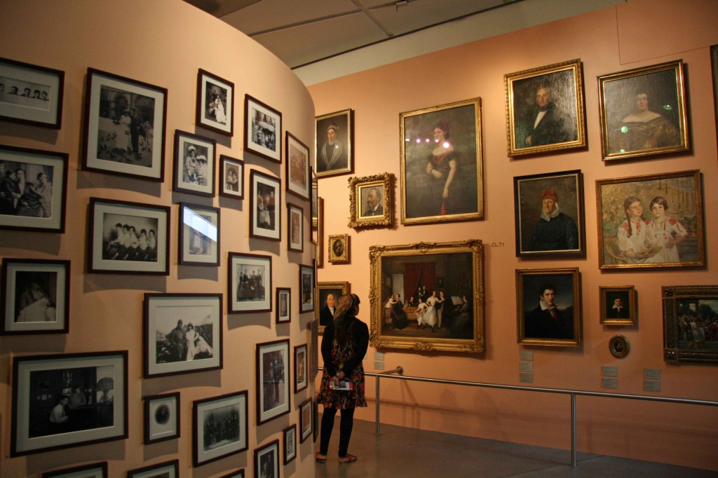 Paintings on display as part of the permanent exhibition at the Jewish Museum Berlin