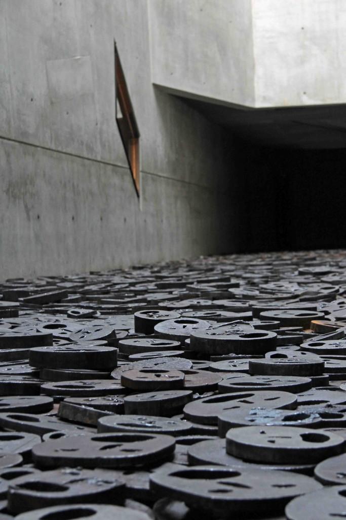 Shalekhet (Fallen Leaves) by Israeli artist Menashe Kadishnman in the Memory Void of the Jewish Museum Berlin