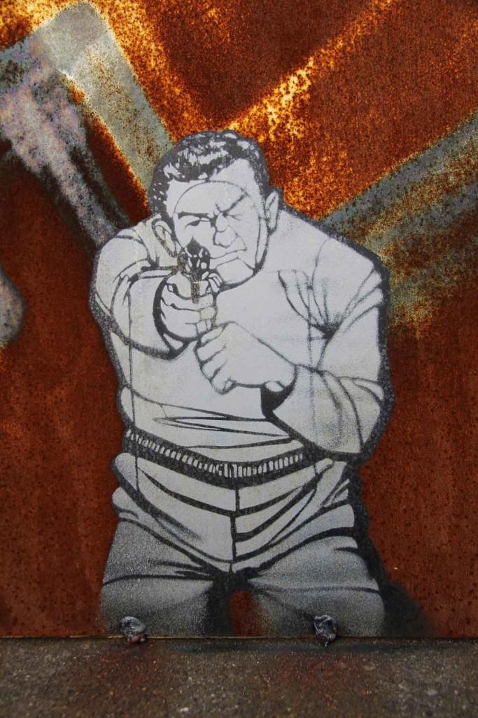 Shooting Target - Street Art by Unknown Artist at Bahnbetriebswerk Pankow-Heinersdorf