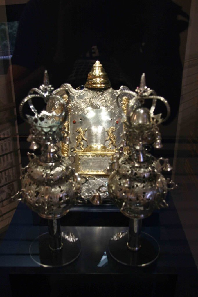 Silver on display as part of the permanent exhibition at the Jewish Museum Berlin