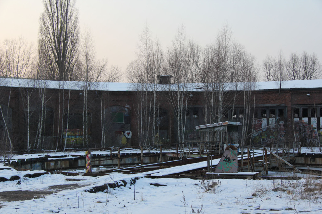 The Engine Sheds and Train Turntable (Drehscheibe) at Bahnbetriebswerk Pankow-Heinersdorf in Berlin