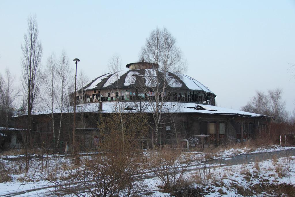 The Roundhouse of Bahnbetriebswerk Pankow-Heinersdorf in Berlin
