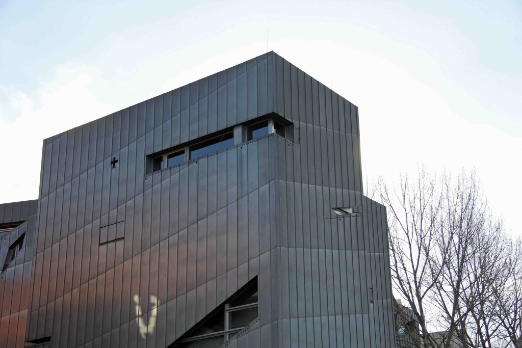 The Zinc facade of the Libeskind Building of the Jewish Museum Berlin
