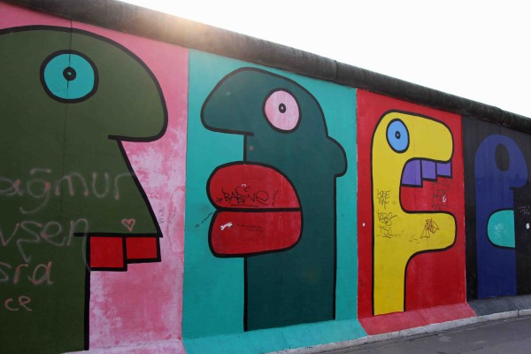 Thierry Noir paintings at the East Side Gallery Berlin
