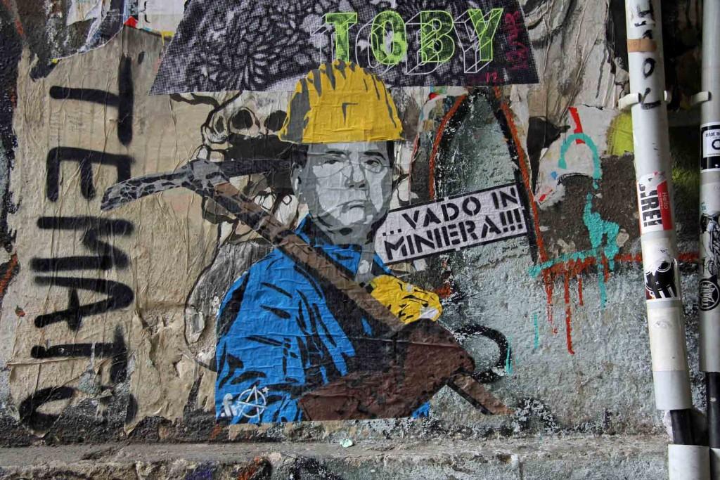 Vado In Miniera - Street Art by .FRA in Berlin