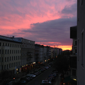 Berlin sunset over Mauerpark from my balcony