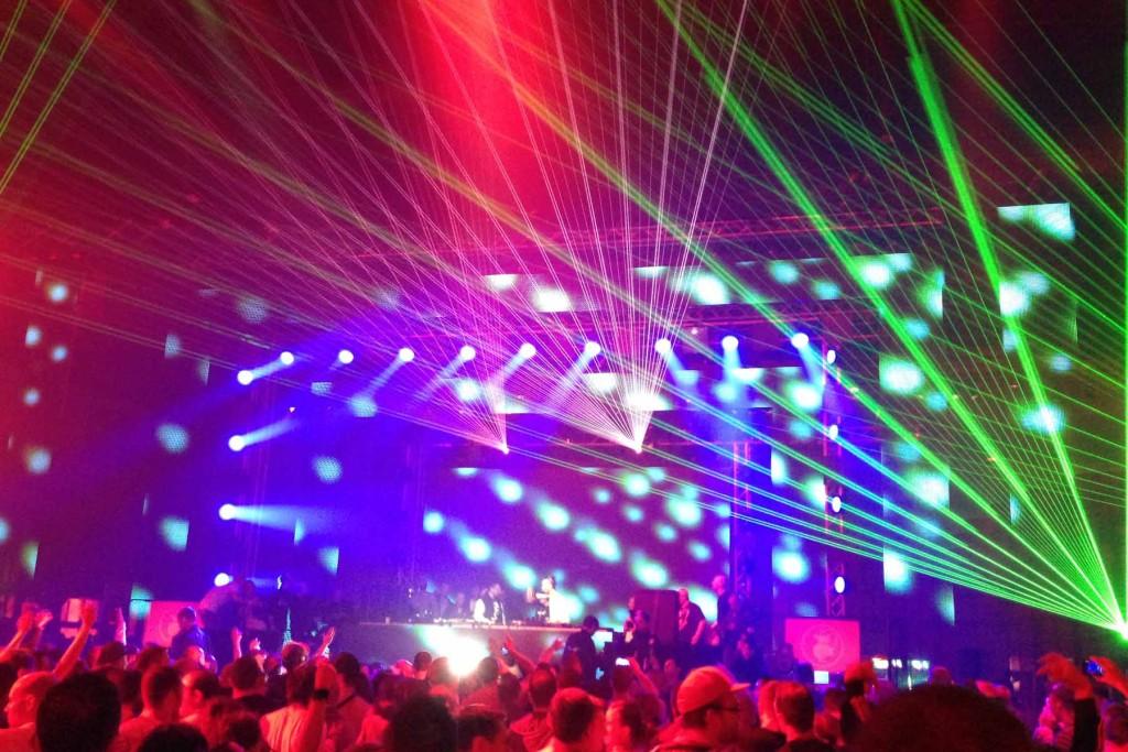 Lights at Berlin Summer Rave 2013 at Tempelhof Airport