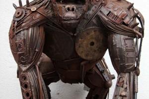 Snapshot: Metal Gorilla Sculpture in Berlin