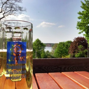Beer in the Biergarten at Loretta am Wannsee