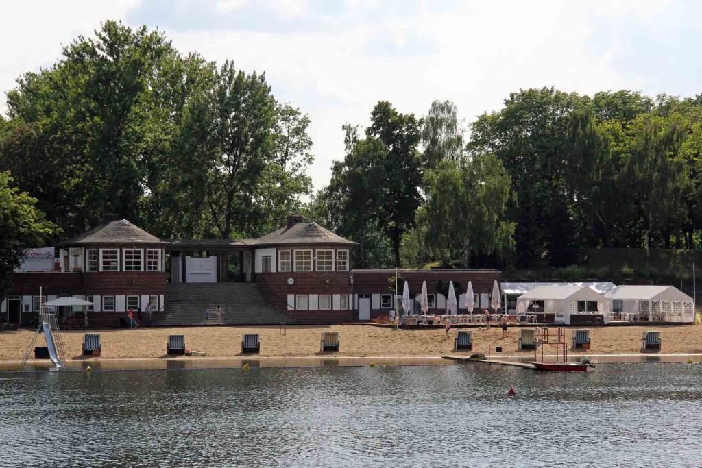 The Strandbad (a man-made beach) at Plötzensee - a lake in Wedding, Berlin