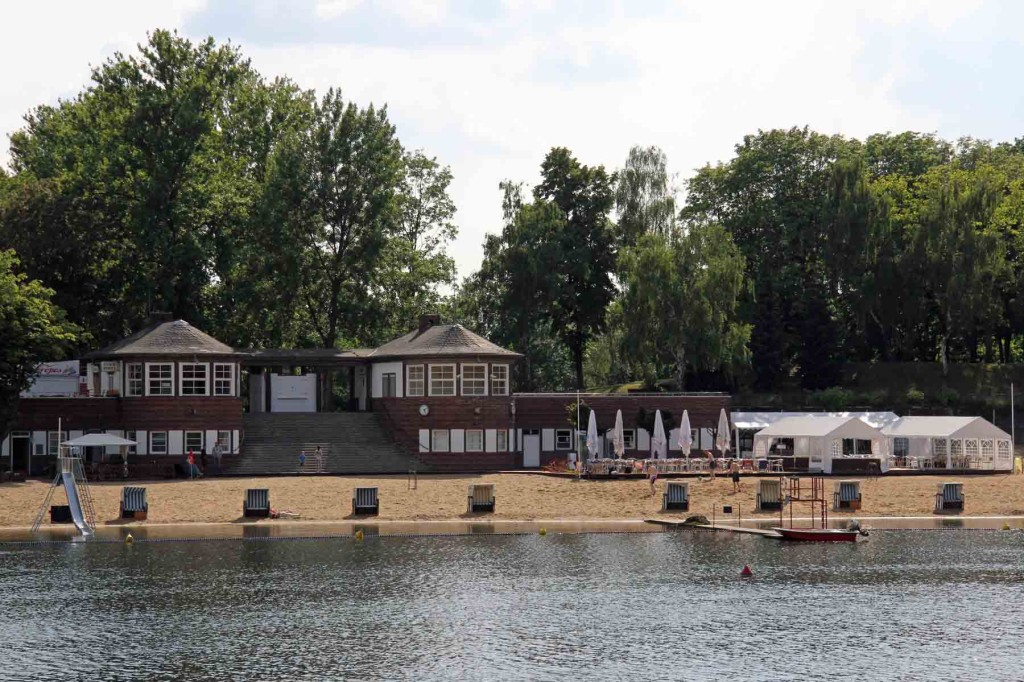 The Strandbad (a man-made beach) at Plötzensee - a lake in Wedding, Berlin