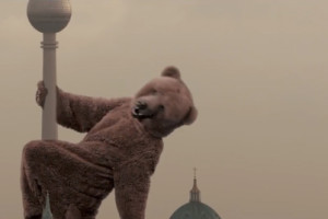 Berlin: Giant Bear Pole Dances Around Fernsehturm