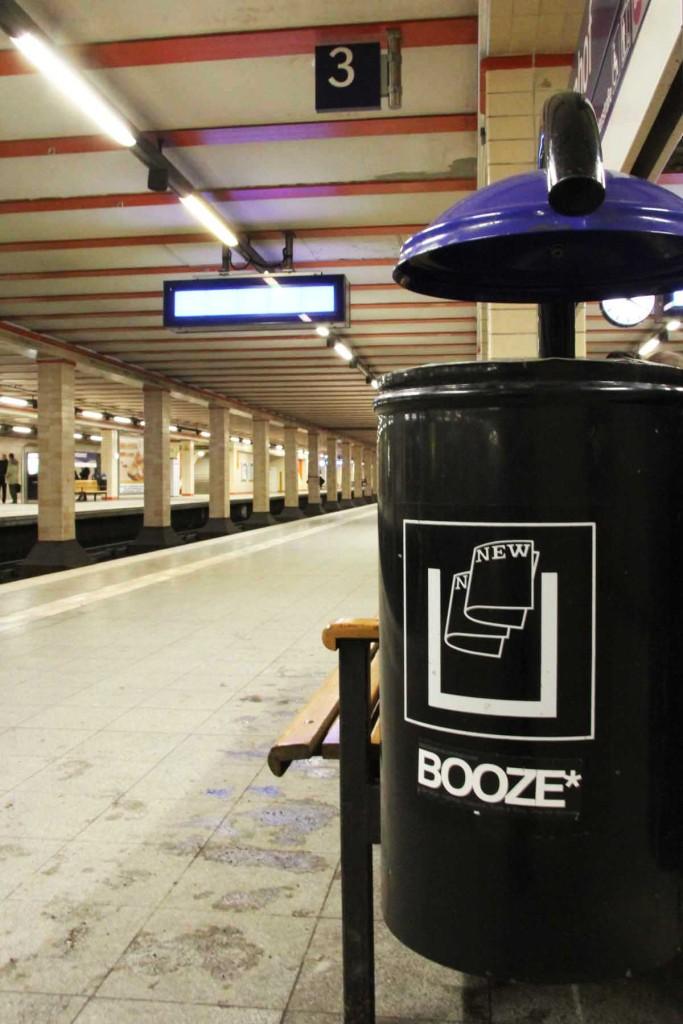 Booze Bin - Street Art by Unknown Artist in Berlin