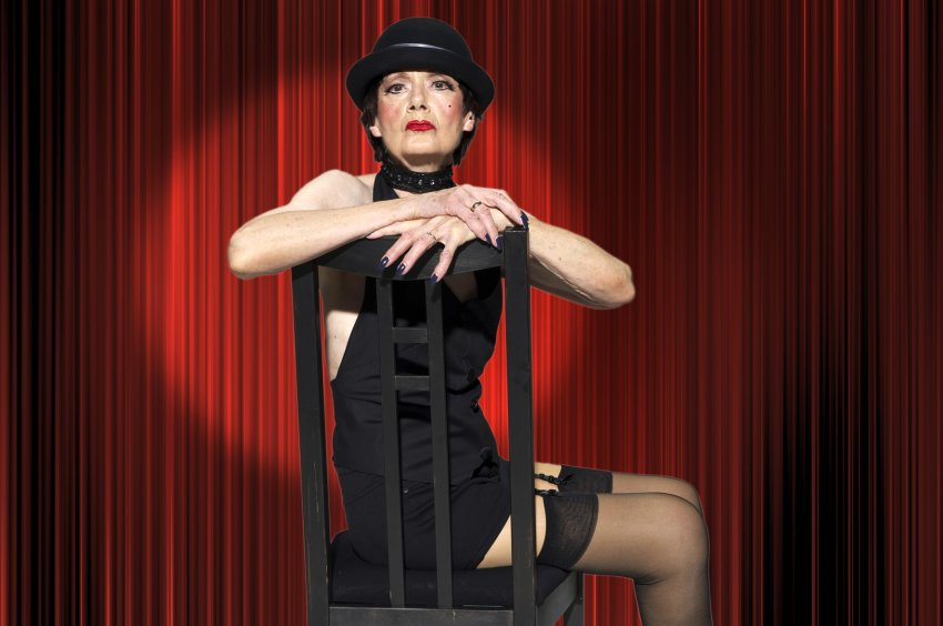 Cabaret - Contilia Gruppe / Werntges Studios (pensioner Martha Bajohr poses as Sally Bowles)