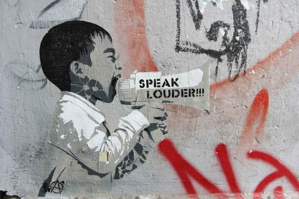 Speak Louder - Street Art by .FRA in Berlin