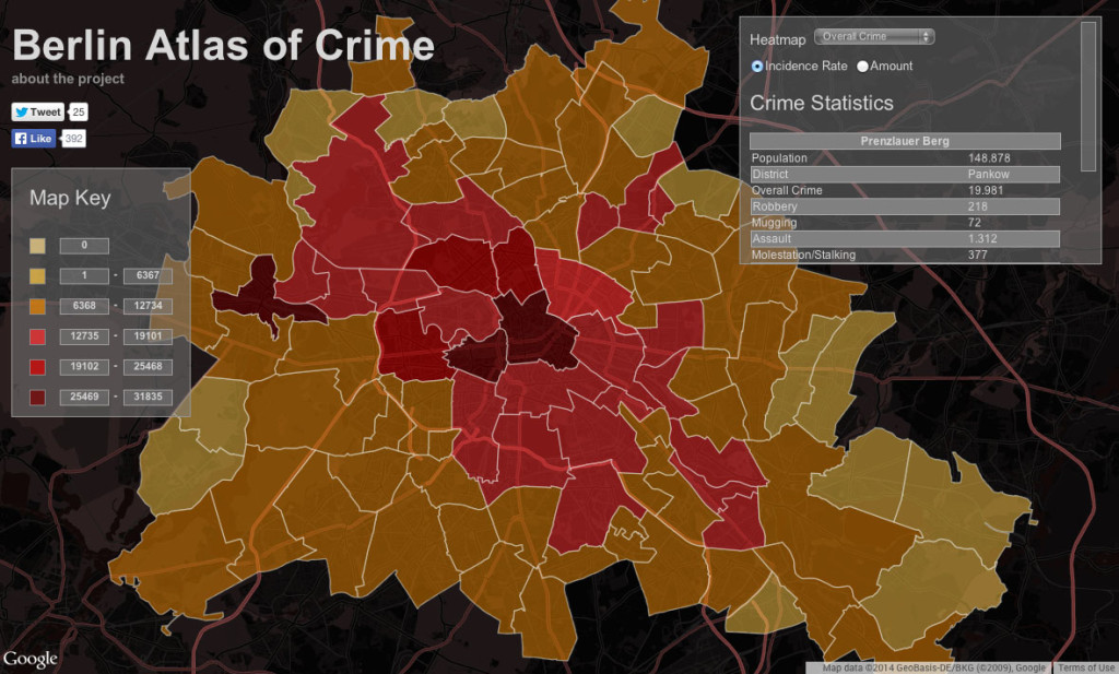 Berlin Atlas of Crime Interactive Crime Statistics Map Screenshot