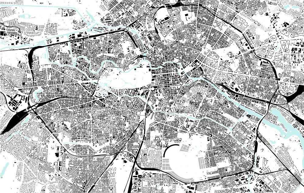 Berlin Schwarzplan (Figure-ground Diagram) 2010