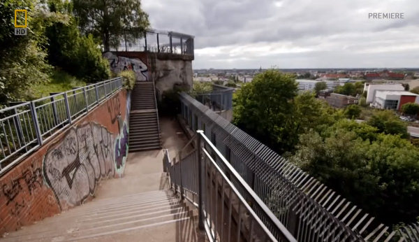 Flakturm in Humboldthain Park: Screenshot from Nazi Megastructures - Fortress Berlin by National Geographic