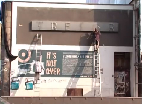Removing the Tresor sign - still from Sub Berlin - The Story of Tresor