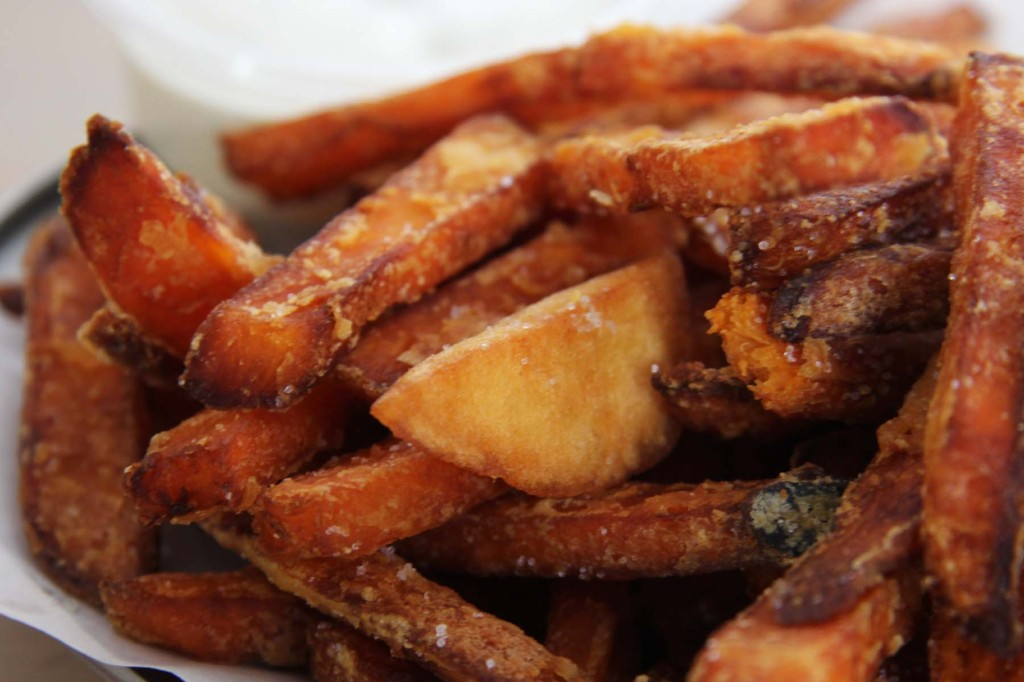 Süßkartoffel Pommes (Sweet Potato Fries) at Schiller Burger Berlin Close-up