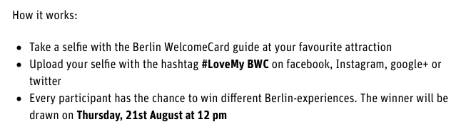 Competition Berlin Welcomecard Photo Contest Berlin Love