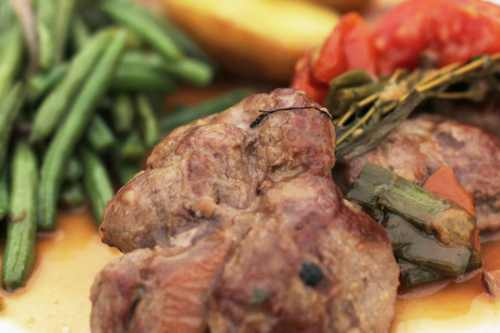 Close up of Lamb Rump Steak at Trattoria del Corso (Italian restaurant) Berlin