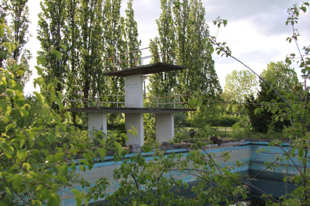 BVG Freibad (also BVB Freibad) an abandoned swimming pool on Siegfriedstrasse in Berlin Lichtenberg