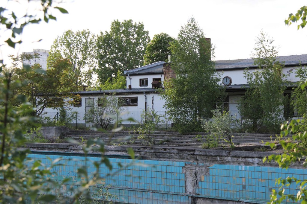 Changing Rooms at BVG Freibad (also BVB Freibad) an abandoned swimming pool on Siegfriedstrasse in Berlin Lichtenberg