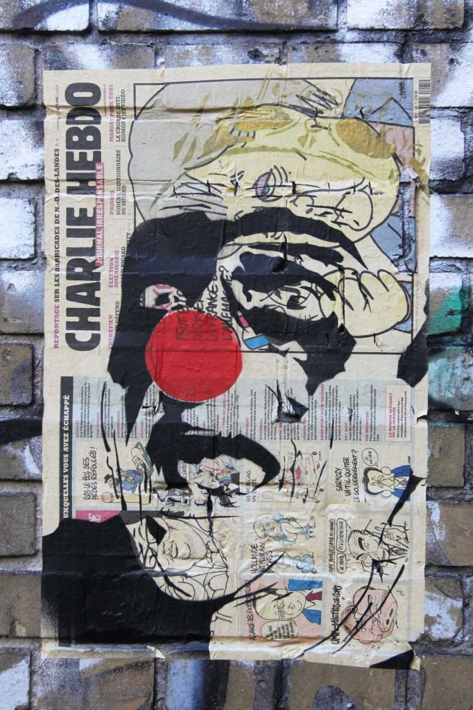 Charlie Hebdo - Street Art by MIMI The ClowN in Berlin