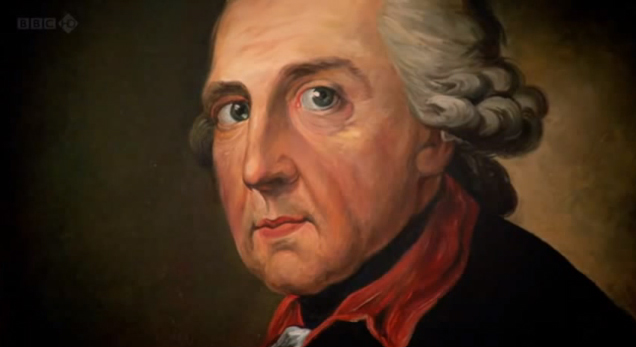 Portrait of Frederick the Great (Friedrich der Grosse) from the BBC documentary 'Frederick the Great and the Enigma of Prussia'