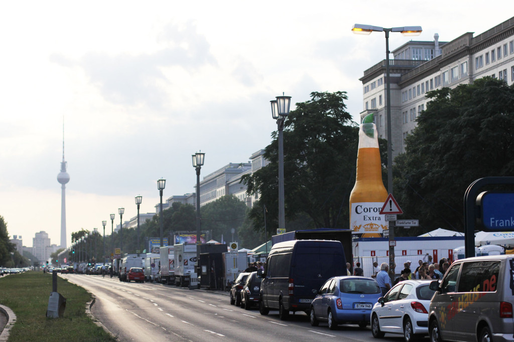 Karl-Marx-Allee during the International Berlin Beer Festival (Internationales Berliner Bierfestival)