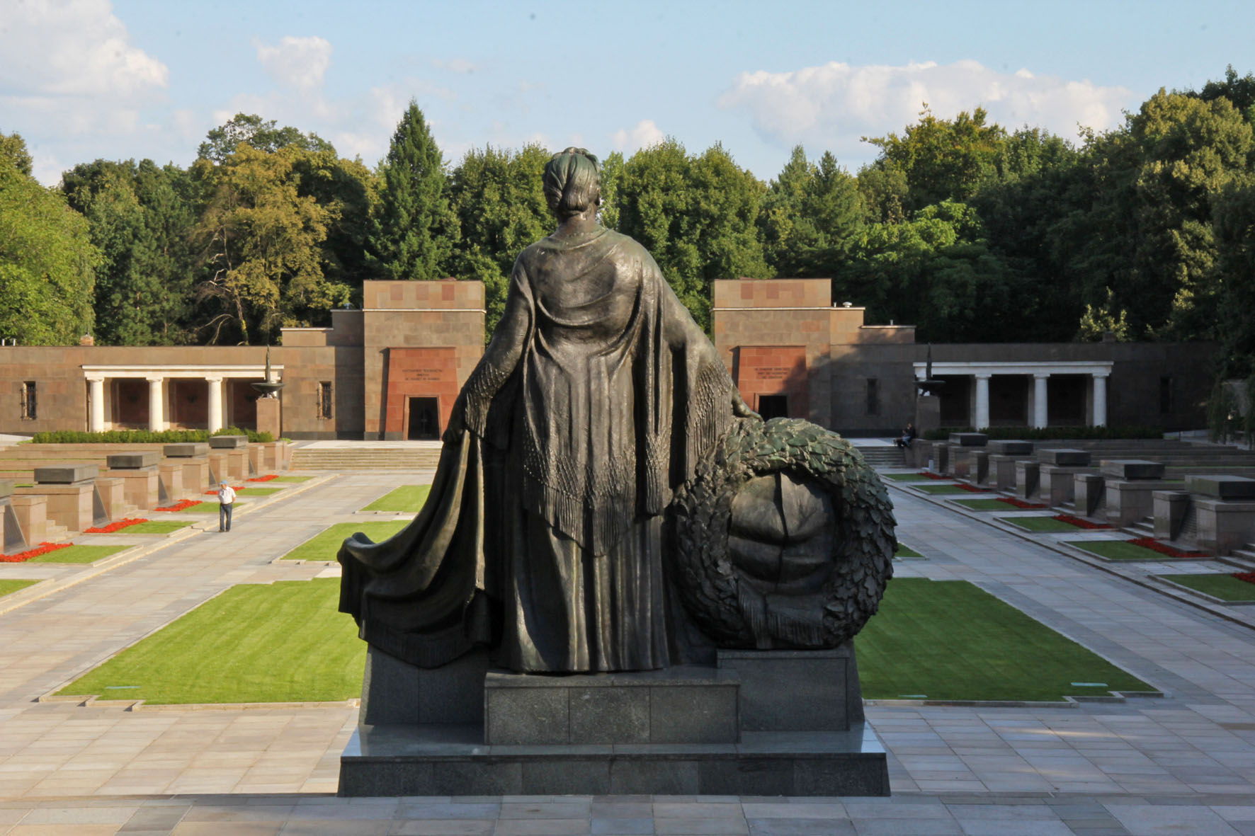 Mother Russia and Soviet Memorial in Schönholzer Heide in Berlin