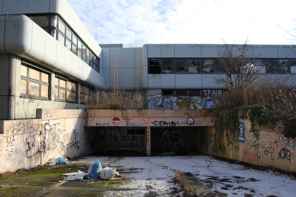 Parking Garage at Einkaufszentrum Cité Foch - an abandoned shopping centre in Berlin