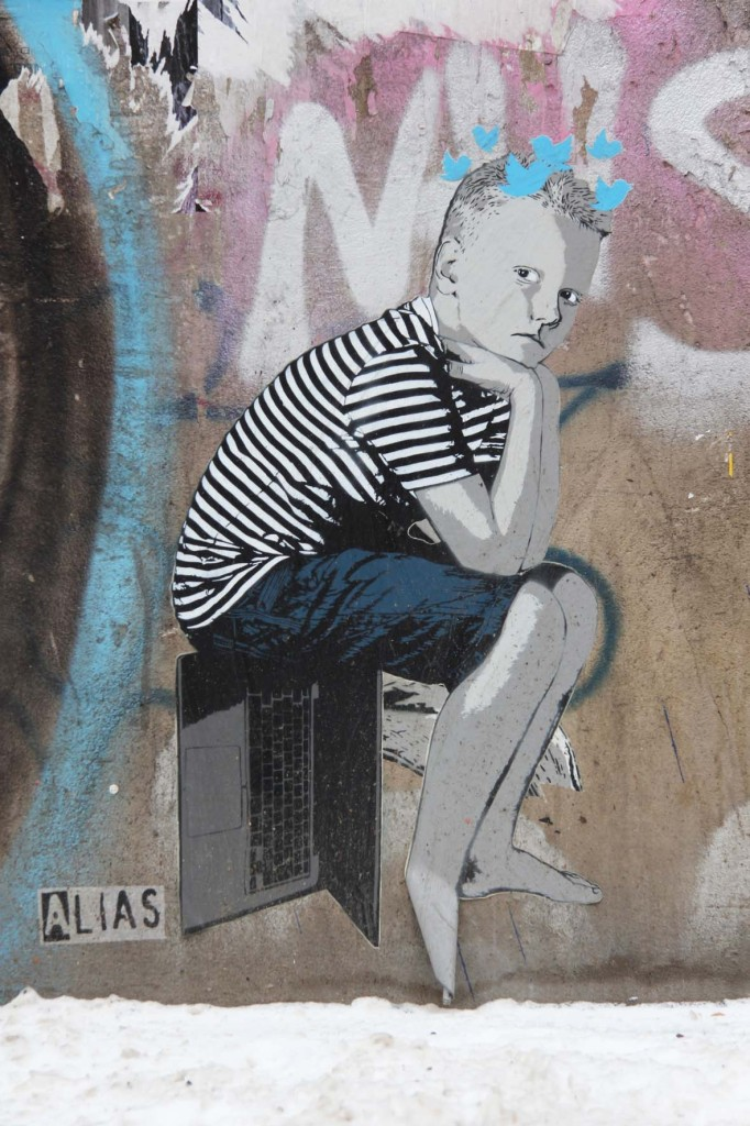 Sitting On The Facts - Street Art by ALIAS in Berlin