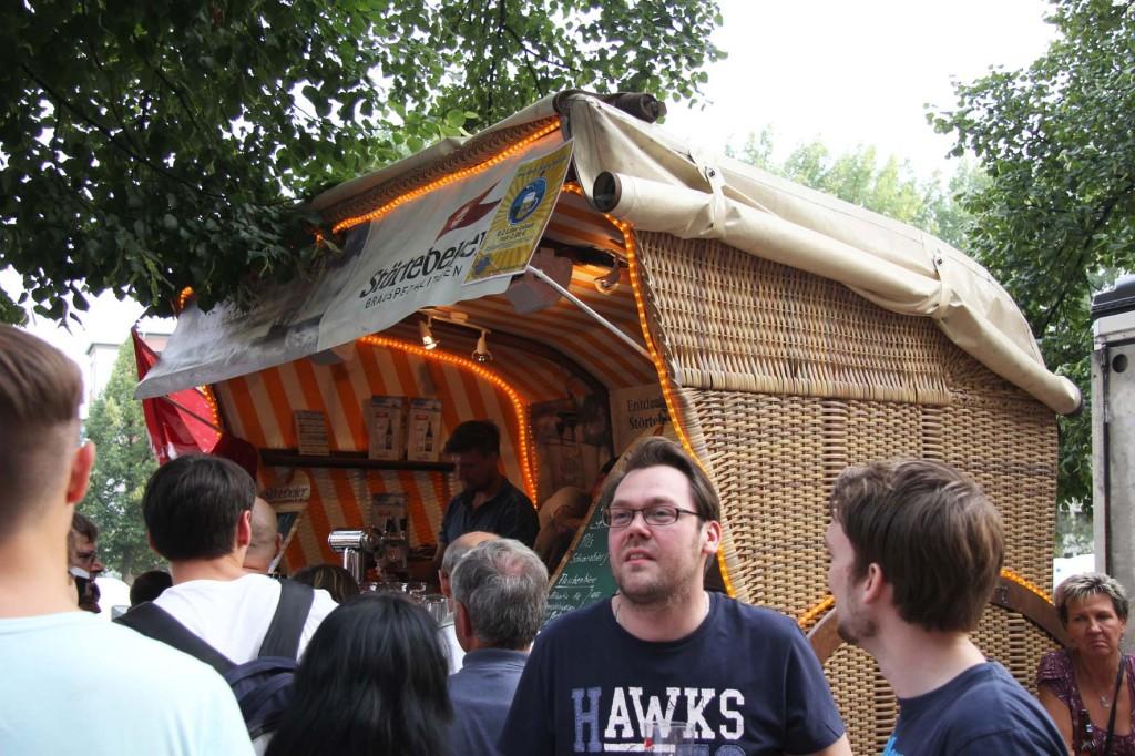 Störtebecker Strandkorb (Beach Basket) at the International Berlin Beer Festival (Internationales Berliner Bierfestival)